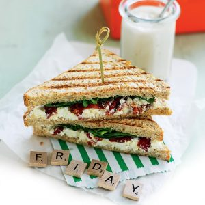 Spinach, ricotta and tomato toastie