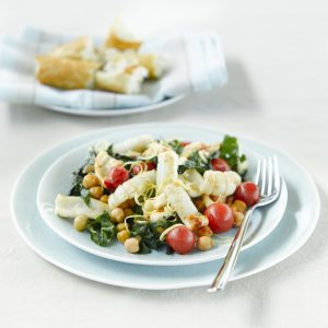 Squid and chickpea toss