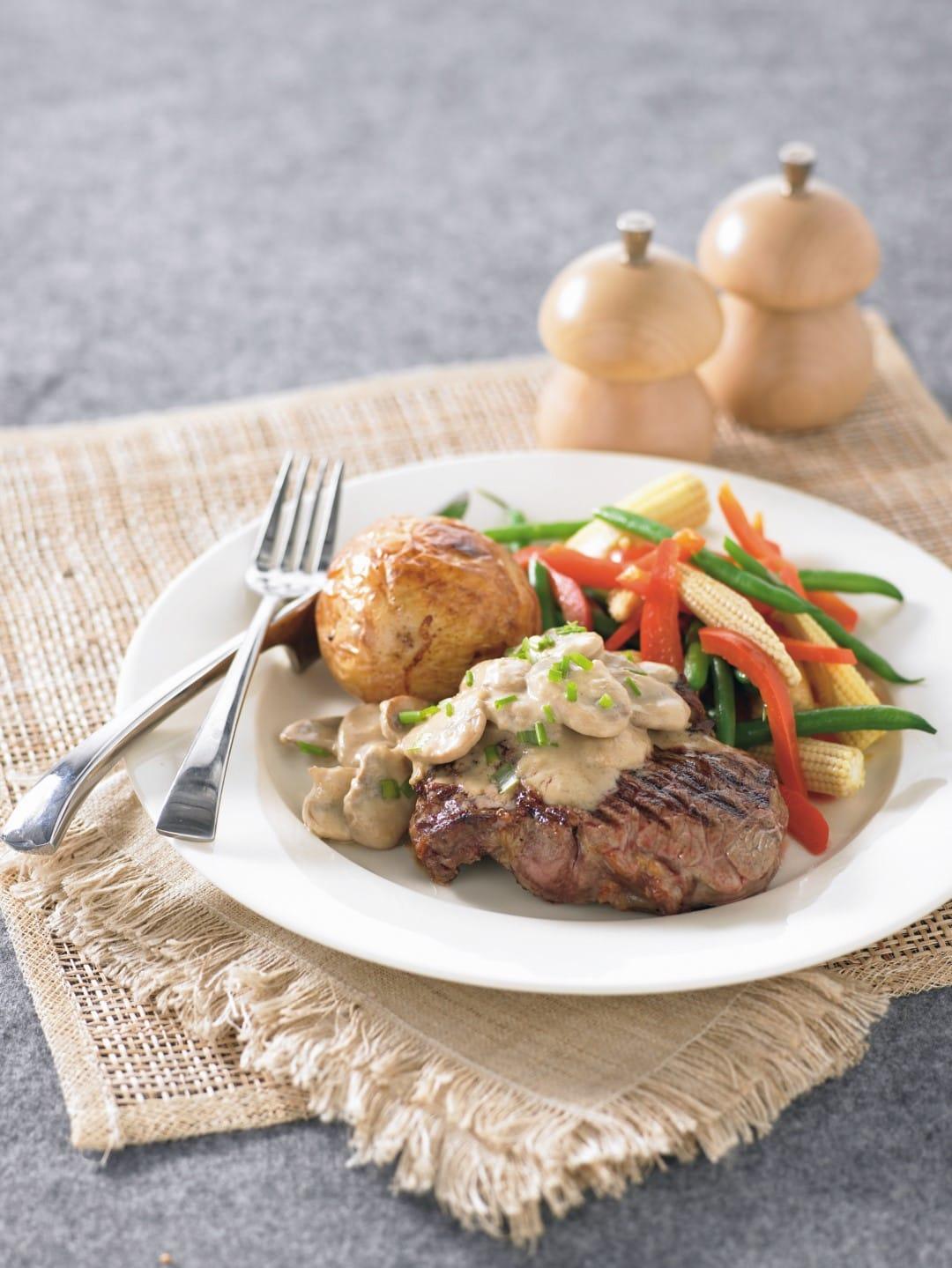 Steak With Mushroom Sauce Healthy Food Guide