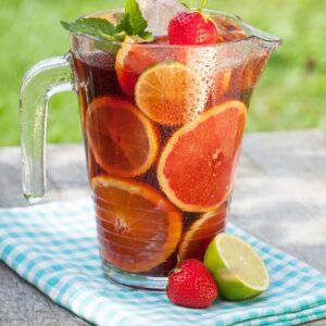 Strawberry and orange iced tea