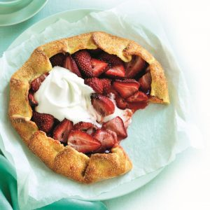 Strawberry and vanilla galette