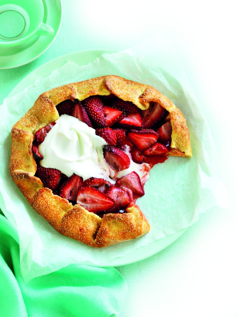 Strawberry and vanilla galette