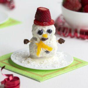 Strawberry snowman