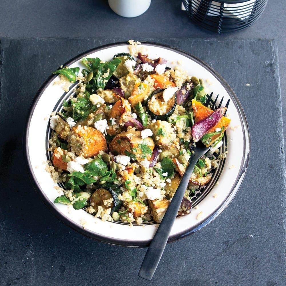 Sunday roast vegetable salad