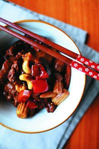 Sweet and sour pork stir-fry