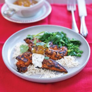 Tandoori chicken with lime raita