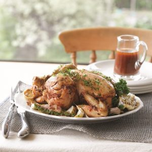Tangy Tuscan roast chicken
