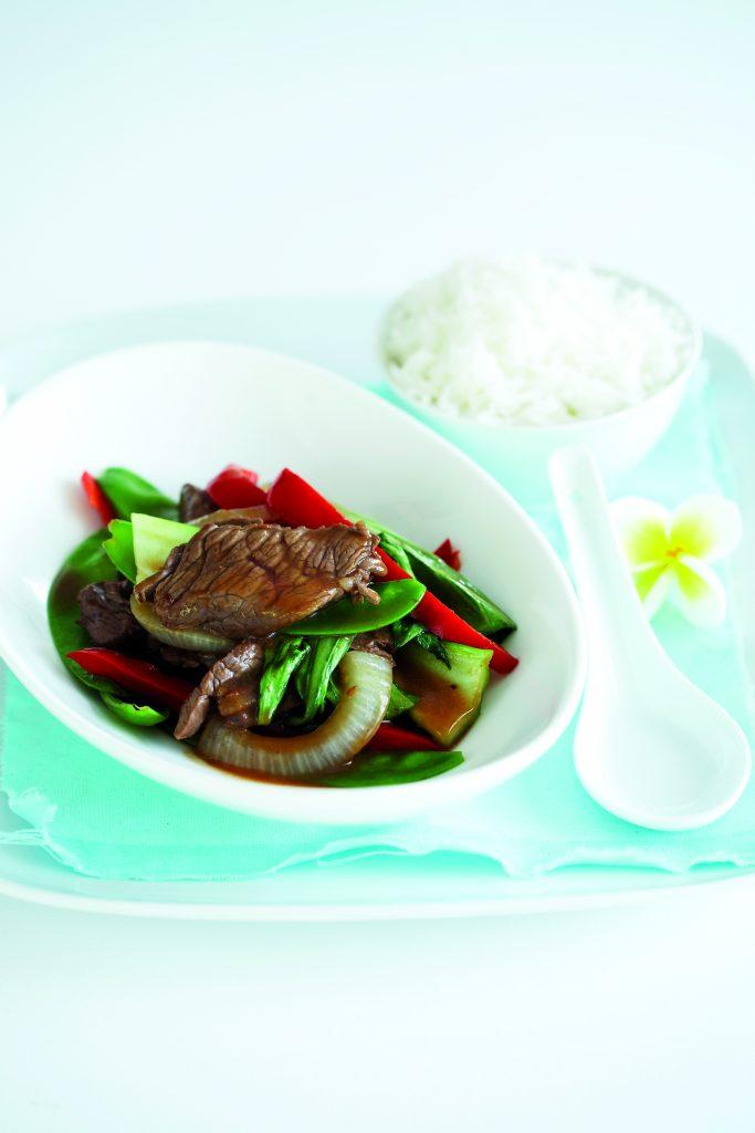 Teriyaki beef stir-fry