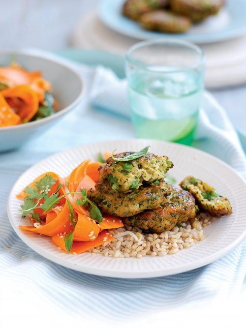 Thai Prawn Cakes With Pickled Carrot Salad