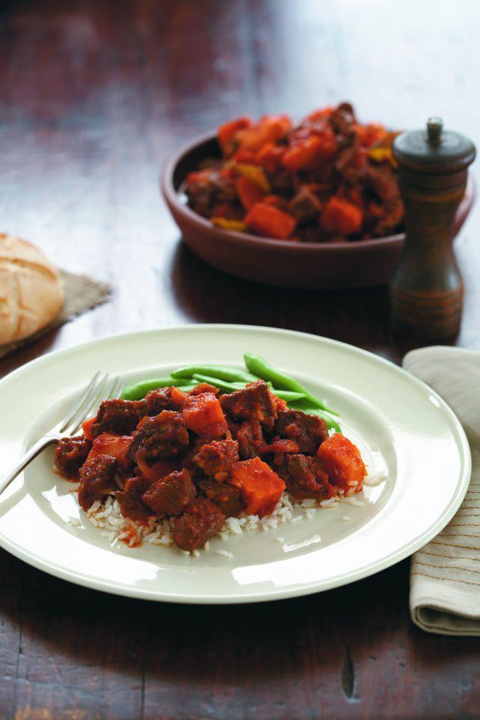 Thai beef and kumara curry