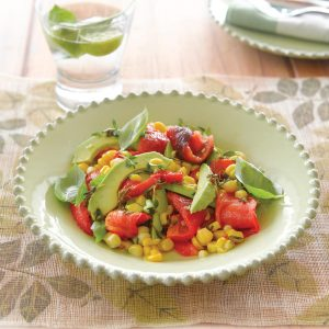 Three Cs (capsicum, chilli and corn) salad
