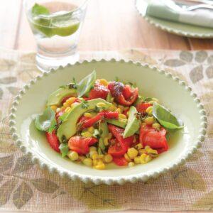 Three Cs (capsicum, chilli and corn) salad