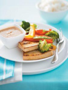 Tofu with satay sauce