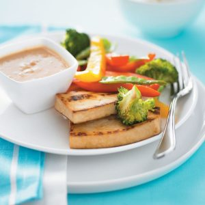 Tofu with satay sauce