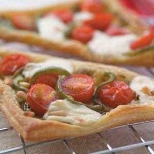 Tomato and pine nut tarts