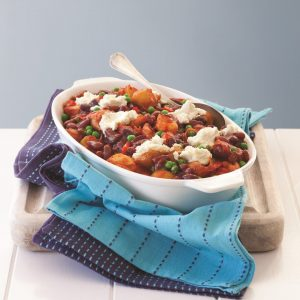 Tomato and chilli bean pasta bake