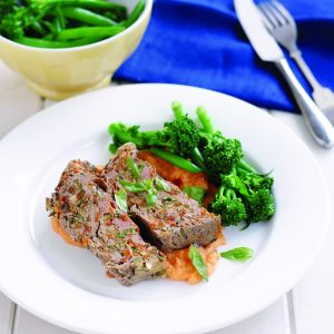 Tomato-basil meat loaf