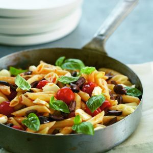 Tomato, feta and basil penne