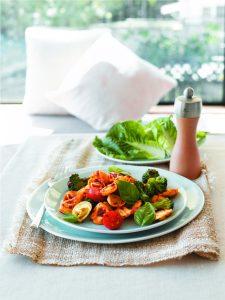 Tortellini with pesto and broccoli