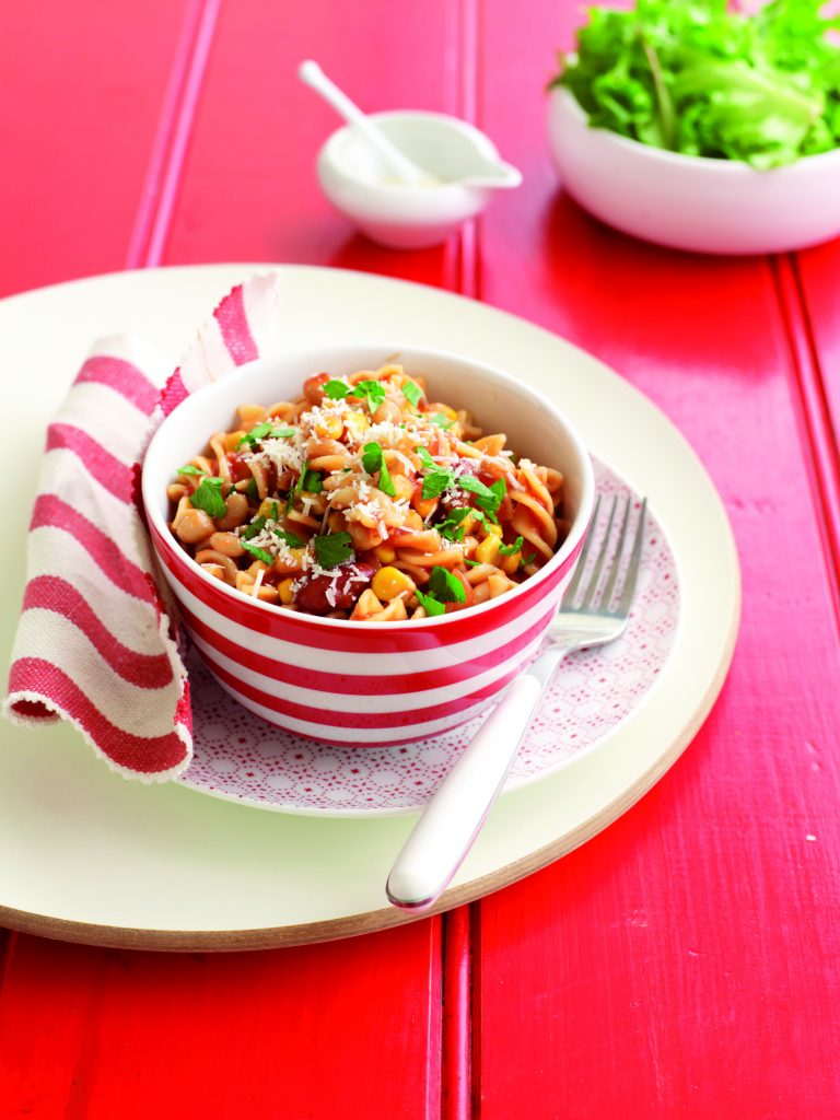 Toss-together vege pasta