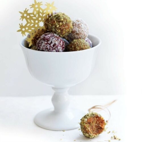Trio of cinnamon and kumara truffles