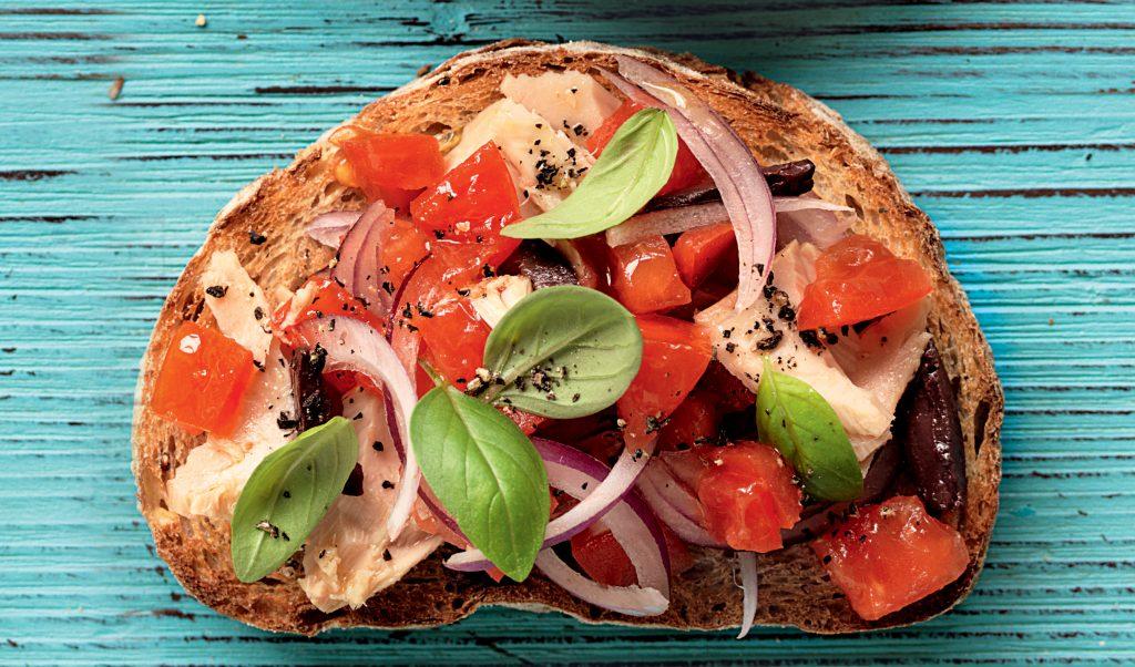 Tuna and olive bruschetta