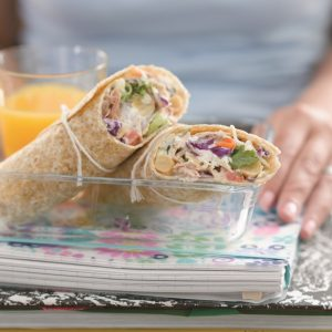 Tuna coleslaw wraps