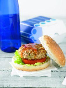 Tuna patty burgers