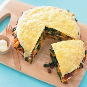 Vegetable stack 'pie'