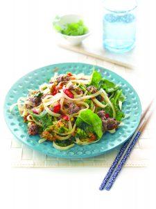 Venison and vege spicy noodles