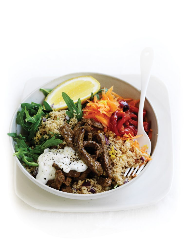 Warm Moroccan beef and couscous salad