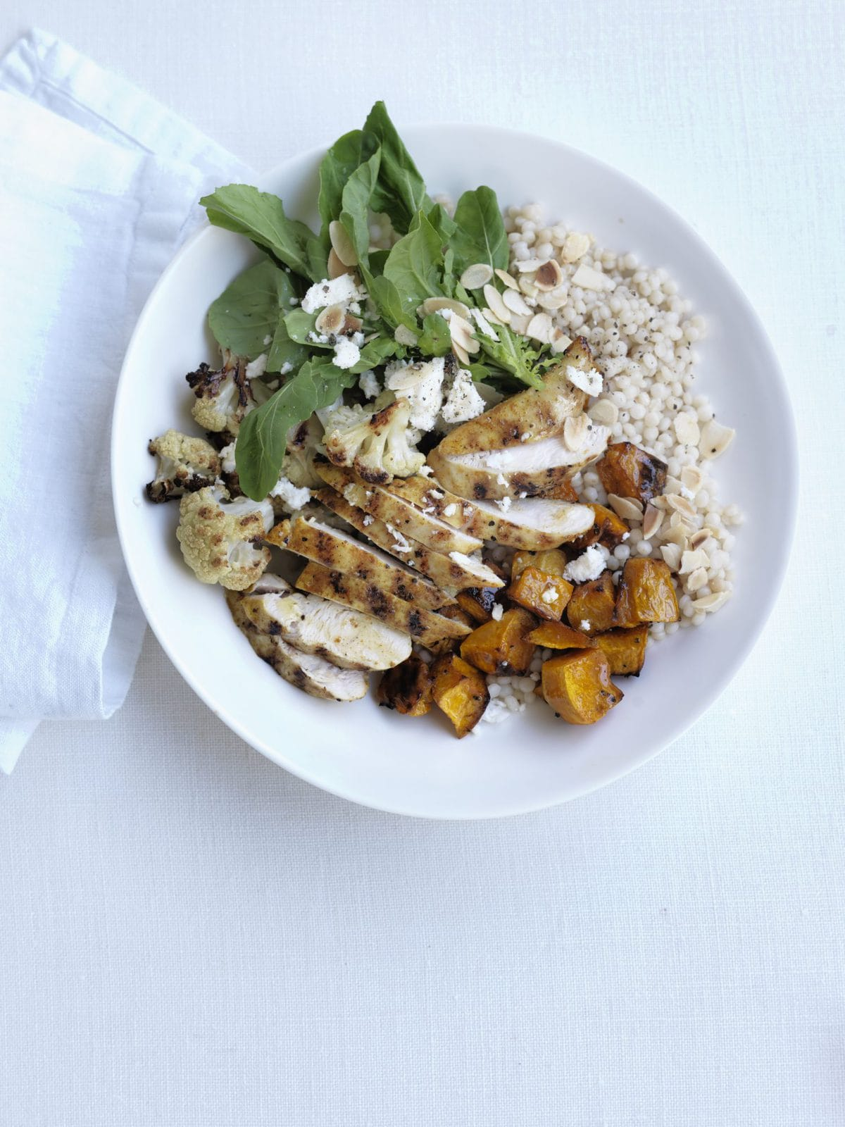 Warm moroccan chicken and israeli couscous salad healthy food guide warm moroccan chicken and israeli couscous salad forumfinder Gallery