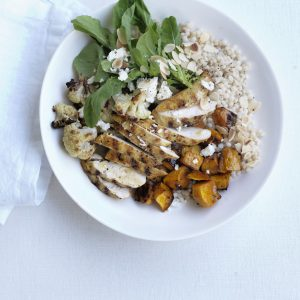 Warm Moroccan chicken and Israeli couscous salad