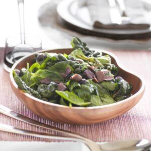 Warm green salad