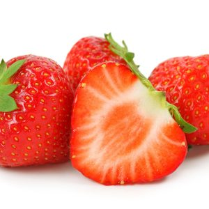 In season early summer: Strawberries