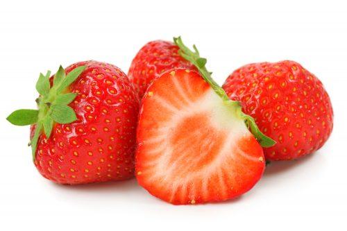 In season early summer: Strawberries