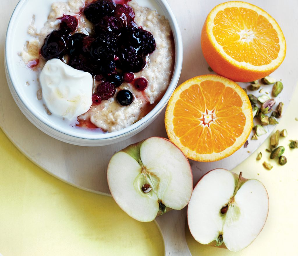 Winter fruit medley porridge