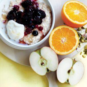 Winter fruit medley porridge