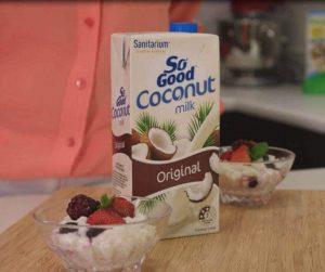 Yoghurt berry rice pudding (sponsored)