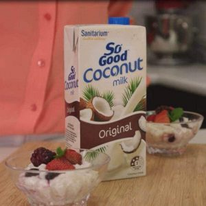 Yoghurt berry rice pudding (sponsored)