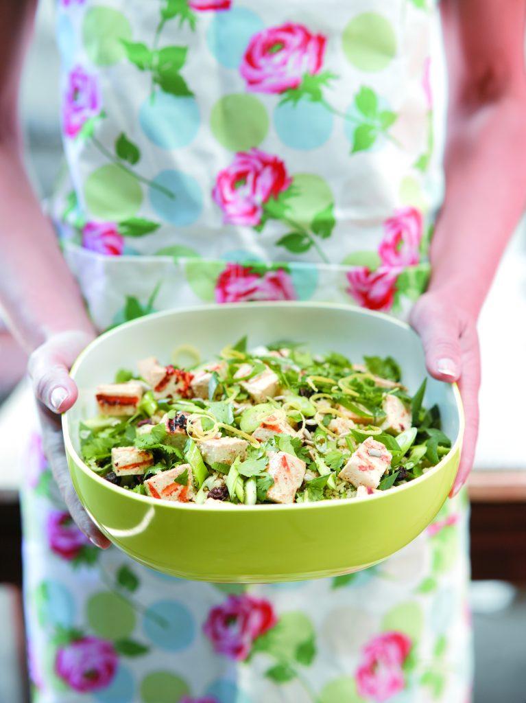 Zesty couscous and tofu salad
