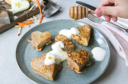 Apple and carrot pikelets
