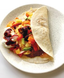Mexican egg tortilla