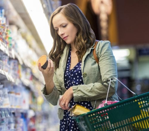 Shopping for foods with less salt