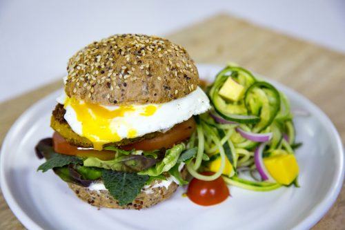 Chickpea and egg burgers