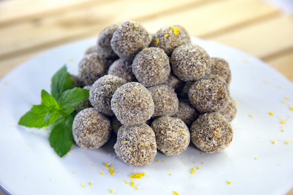 Fruity avocado bliss balls