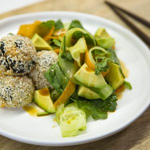 Sesame sushi balls
