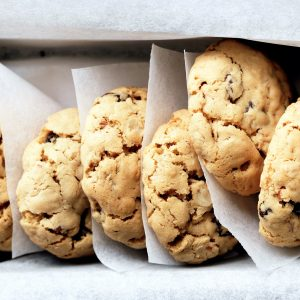 Oat, pecan and sultana biscuits
