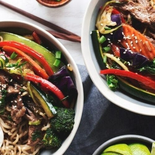 20-minute stir-fry teriyaki ramen bowls