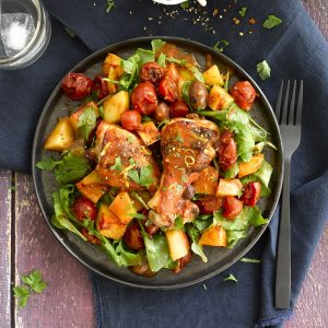 Chicken, tomato and olive bake